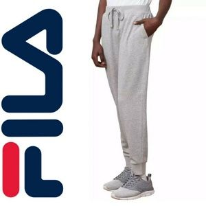 NWT Fila French Terry Jogger pant workout Cuff